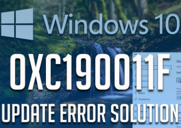 Easy way to solve error code 0xc190011f-Microsoft support
